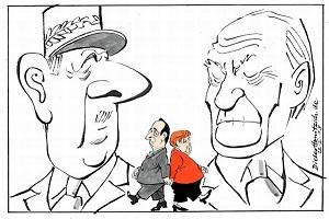 de Gaulle en Adenauer