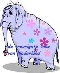 olifant met bloemetjesbehang-de treurigste visie