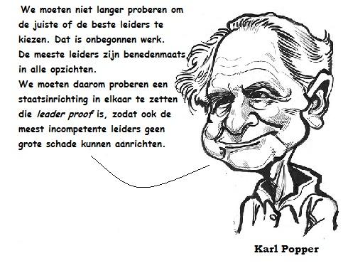 Karl Popper cartoon + tekst
