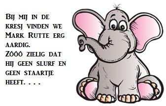 elephant met roze oren - 2 + tekst over MR