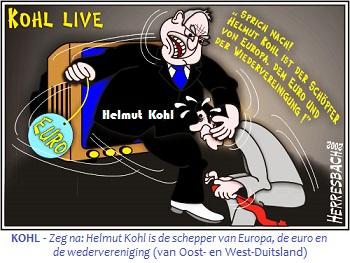 Helmut Kohl de Schoepfer van Europa, de euro 70 prct + tkst + vertaling
