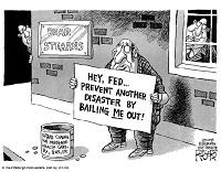 bankier chanteert met nog een crash