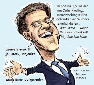 Rutte armen wijd OS voor Wilders