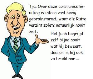 blauwe blazer over filosof Rutte