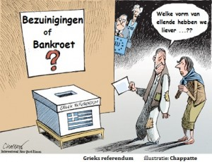 Grieks referendum Chappatte