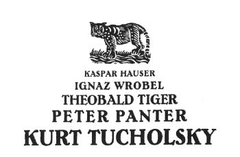 pseudonyme Tschycholsky
