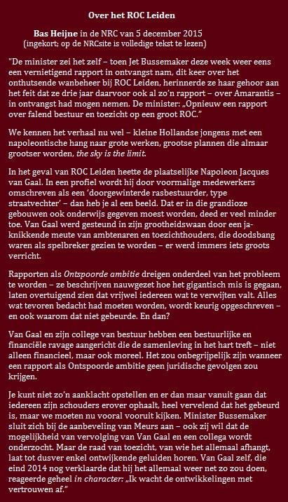 Bas Heijne over ROC