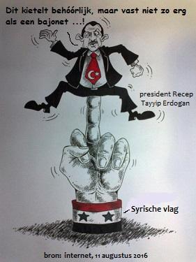 Erdogan gekieteld